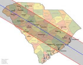 Total Solar Eclipse 2017 Path South Carolina