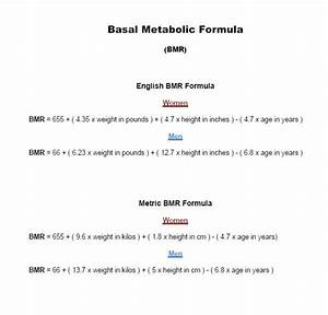 Resting Metabolic Rate Chart Calculating Your Resting Energy Expenditure