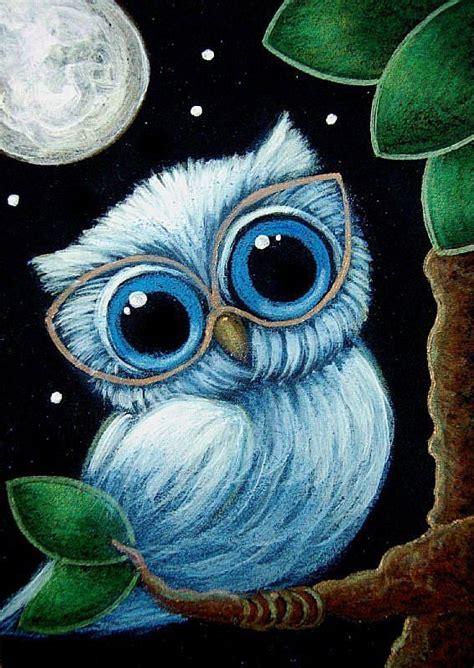 tiny baby blue owl  eye glasses  cyra  cancel
