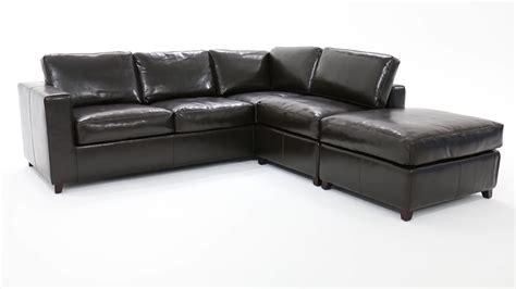 canapé lit d 39 angle 5 places convertible croûte de cuir