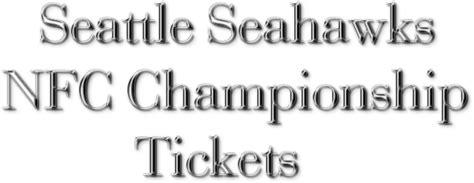 seahawks nfc championship  ticket  slashes