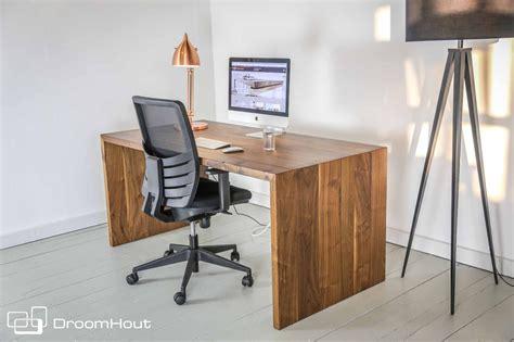 droomhout bureau notenhout