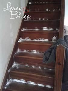 Comment Vitrifier Un Escalier : amazing talc leclerc with teinter un escalier en bois ~ Farleysfitness.com Idées de Décoration