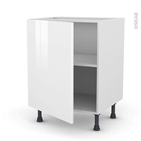 meuble de cuisine sous évier stecia blanc 1 porte l60 x