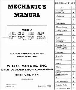 Willys Jeep Pickup Wagon Repair Shop Manual 1949 1950 1951