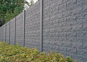 Plaque De Beton Pour Cloture Pas Cher : mur de cl ture en b ton kingersheim hd constructions ~ Dode.kayakingforconservation.com Idées de Décoration