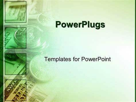 powerpoint template green money  finances