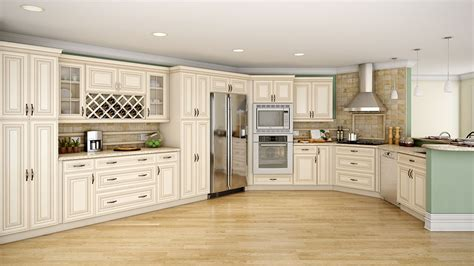 kitchens with white appliances and dark cabinets cream colored kitchen cabinets with black