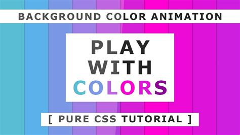 background color animation pure css tutorials css animation effects tutorial youtube
