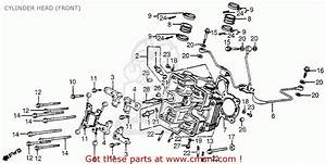 Honda Vf750c V45 Magna 1983 Usa Cylinder Head  Front