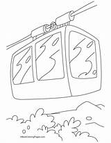 Cable Coloring Pages Tramway Template sketch template