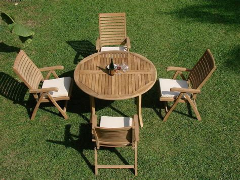 ash pc outdoor teak dining patio set table