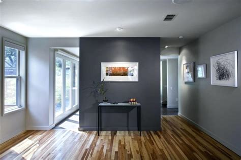 gray bedroom with blue accents modern black sofa glass table accent wall in living room blue