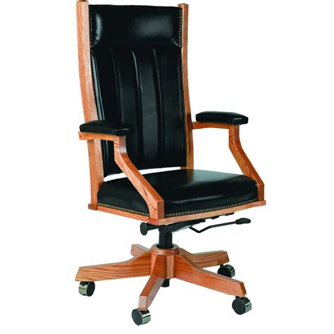 midland side chair with gas lift amish crafted furniture
