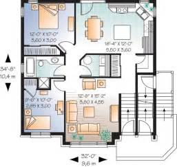 multi level house plans multi family plan 64883 at familyhomeplans