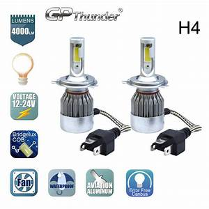 Cob H4 Hb2 9003 Gp Thunder Cree Led Headlight Kit Hi  Lo Power Bulbs 6000k 813538015350