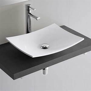 Vasque à Poser Salle De Bain : plan vasque de salle de bain de 60 100 cm versus ~ Edinachiropracticcenter.com Idées de Décoration