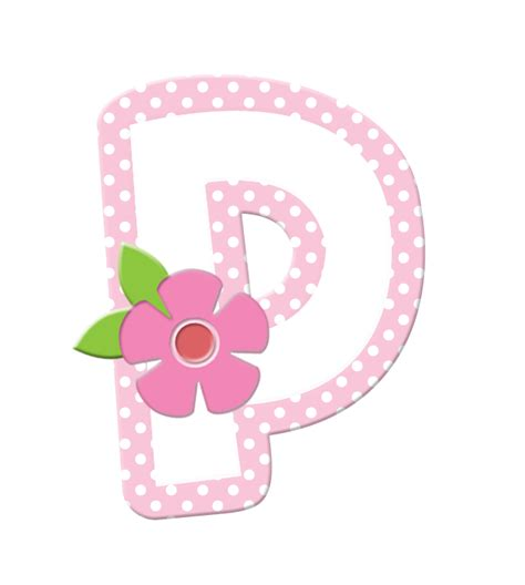 alfabeto con flores y orilla rosa oh my alfabetos