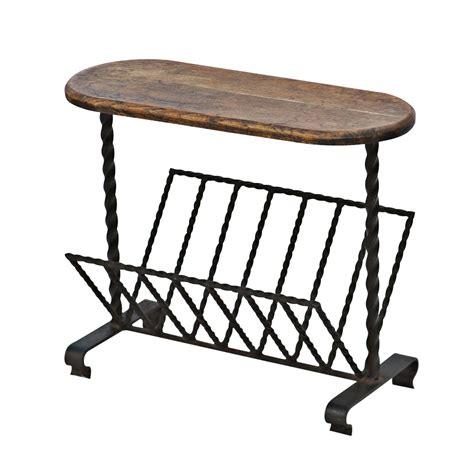 magazine rack table l wrought iron magazine rack side table ebay
