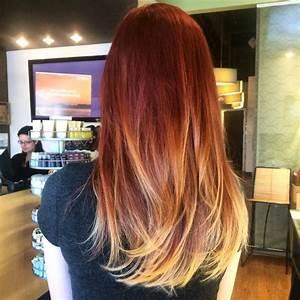 Ombré Hair Rouge : balayage red to blonde by hair color ~ Melissatoandfro.com Idées de Décoration