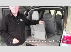 2012 Toyota Highlander Third Row Seat Operation