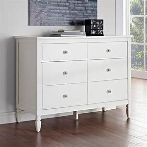 Dorel, Living, Vivienne, 6, Drawer, Dresser, -, White