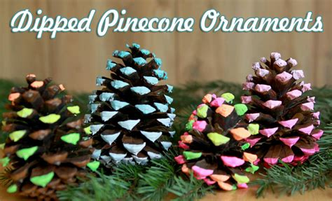 pine cone christmas ornaments crafts dipped pine cone ornaments christmas craft