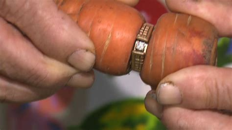 lost engagement ring found wrapped around carrot youtube