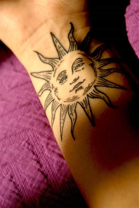 sun  moon tattoos  men ideas  designs