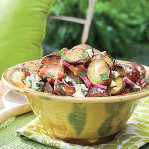 grilled potato salad with bacon big daddy s grilled blue cheese and bacon potato salad recipe myrecipes com