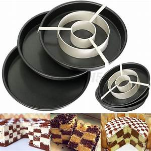 Torten Dekorier Set : 4 teiliges set kuchenform checkerboard schachbrettkuchen ~ A.2002-acura-tl-radio.info Haus und Dekorationen