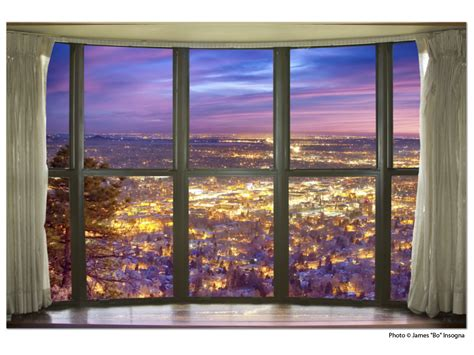 city lights bay window view 32 x48 x1 25 premium canvas