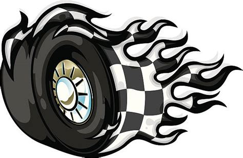 Royalty Free Spinning Car Wheel Clip Art, Vector Images