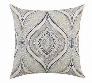 coaster 905073 accent pillow off white blue grey With blue gray accent pillows