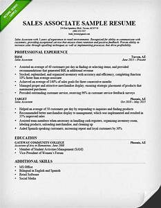 retail sales associate resume ingyenoltoztetosjatekokcom With how to write a resume for sales position