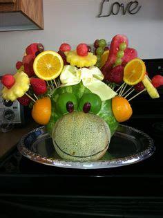 watermelon elephant fruit tray      baby shower  junglesafari party
