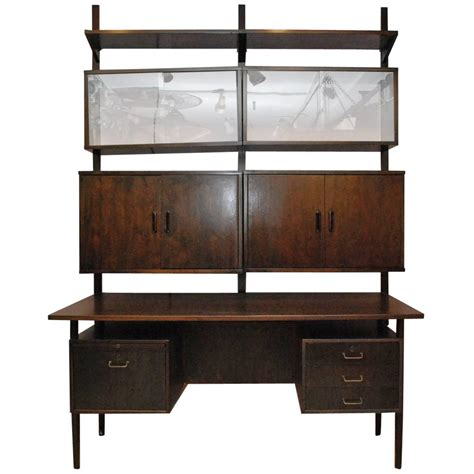 desk and shelving unit danish wall mounted shelving desk unit by torben