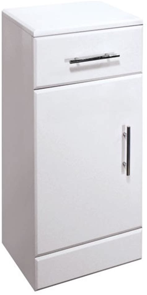 White High Gloss Cupboard by High Gloss White 250mm Cupboard