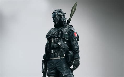 full hd wallpaper soldier killzone armor rifle gas mask