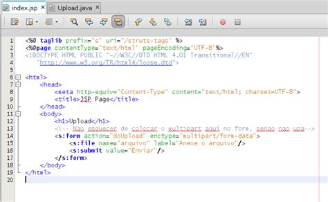 Foo Java! Struts2  Upload De Arquivos, Gravando No