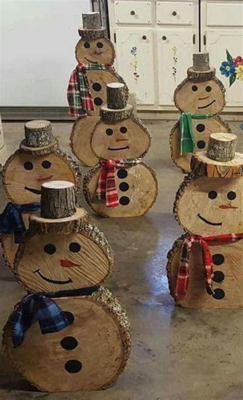 wooden snowmen  directions christmas wood