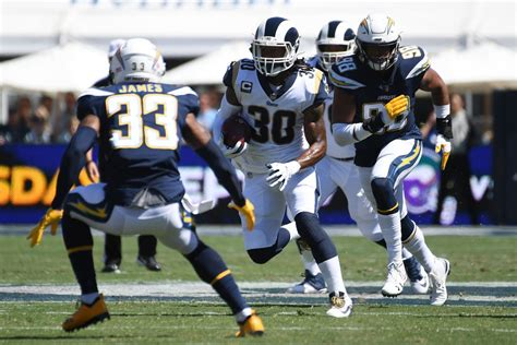 chargers rams final score los angeles chargers lose