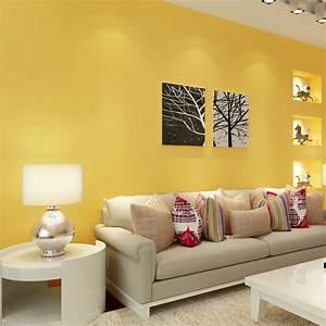 Le Papier Peint Jaune : paysota moderne simple solide couleur jaune papier peint ~ Zukunftsfamilie.com Idées de Décoration