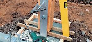 Poteau A Linge En Beton : sceller des poteaux de bois ~ Dailycaller-alerts.com Idées de Décoration
