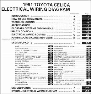 1991 Toyota Celica Wiring Diagram Manual Original