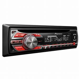 Pioneer Deh-1500ub Cd  Mp3 Car Stereo System  Android Ready  Red Illumination