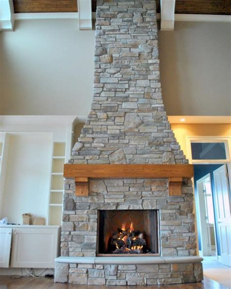 Cultured Stone Fireplace Piers Walls Chimney