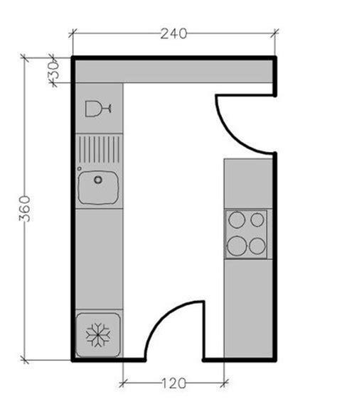 plan cuisine en parall e 13 plans pour une cuisine fermée de 3 à 9 m2 côté maison