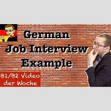 Intermediate German #6 Job Interview Youtube