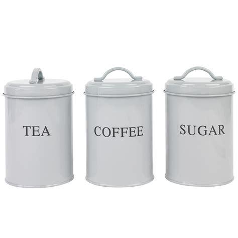 tea coffee amp sugar set grey kitchenware